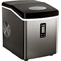 Tavata Countertop Portable Ice Maker Machine, 9 Ice Cubes Ready in 6 Mins, Makes 33 lbs of Ice per 24 Hours, Stainless Steel Ice Maker with Ice Scoop and Basket (High-end)