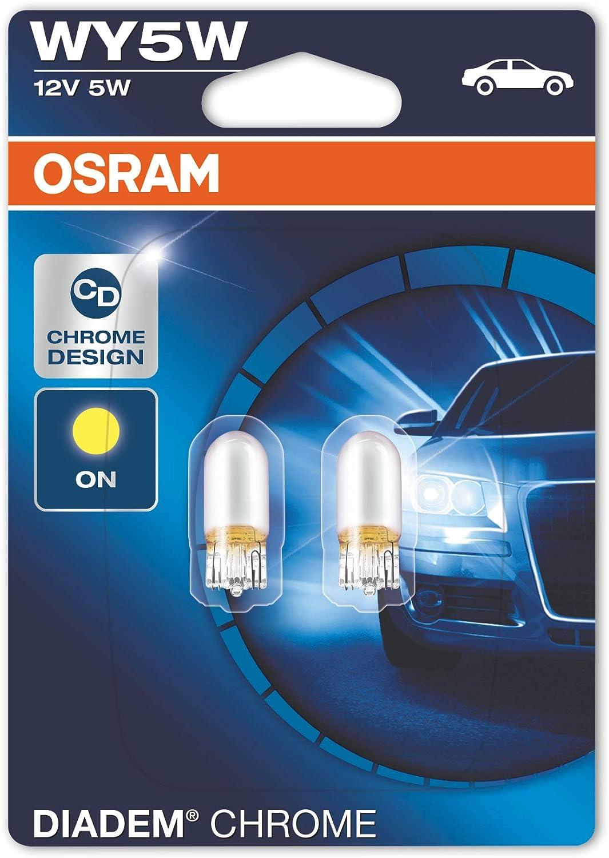 Osram Wy5w 501a 5 W Diadem Chrom Design Blinkerbirnen 2827dc 02b Doppelpack Auto