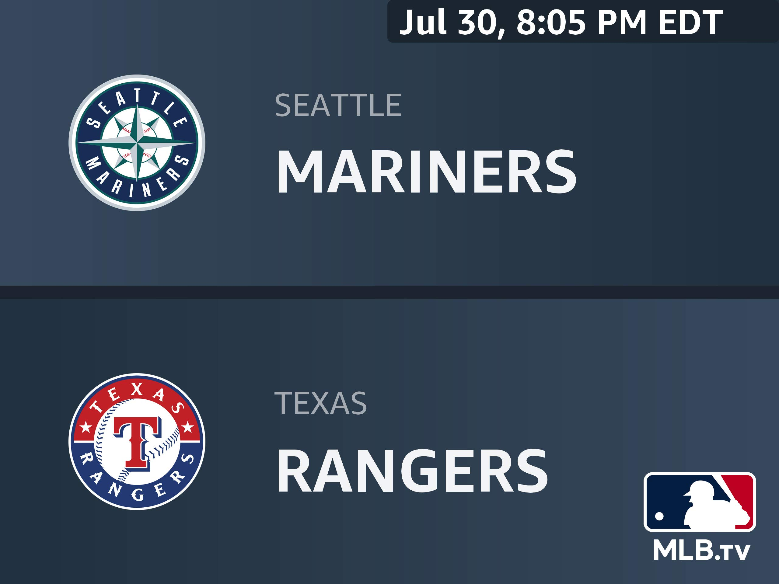 Watch Seattle Mariners At Texas Rangers Prime Video