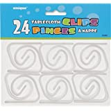 Clear Plastic Tablecloth Clips, 24ct