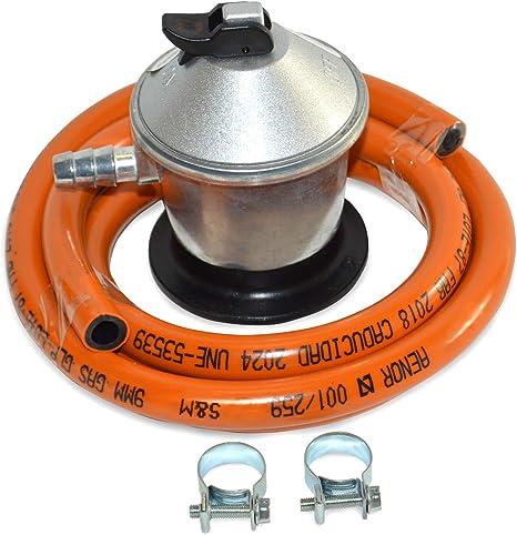 S&M 321771 Regulador de Gas Butano+ Tubo Goma 1, 5 M + 2 ...