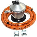 S&M 321771 Regulador de Gas Butano+ Tubo Goma 1,5 M + 2 Abraz,