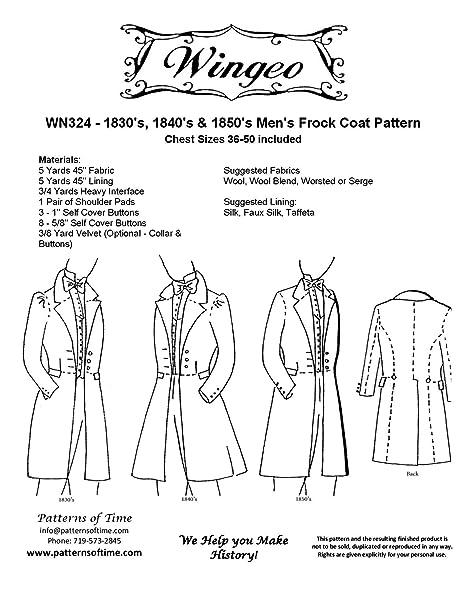 Amazon 40's 40's 40's Frock Coat Pattern Arts Crafts Best Mens Coat Patterns