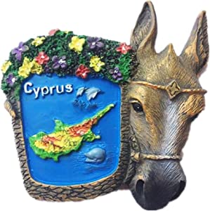 Cyprus Mediterranean Europe World City Resin 3d Strong Fridge Magnet Souvenir Tourist Gift Chinese Magnet Hand Made Craft Creative Home and Kitchen Decoration Magnetic Sticker