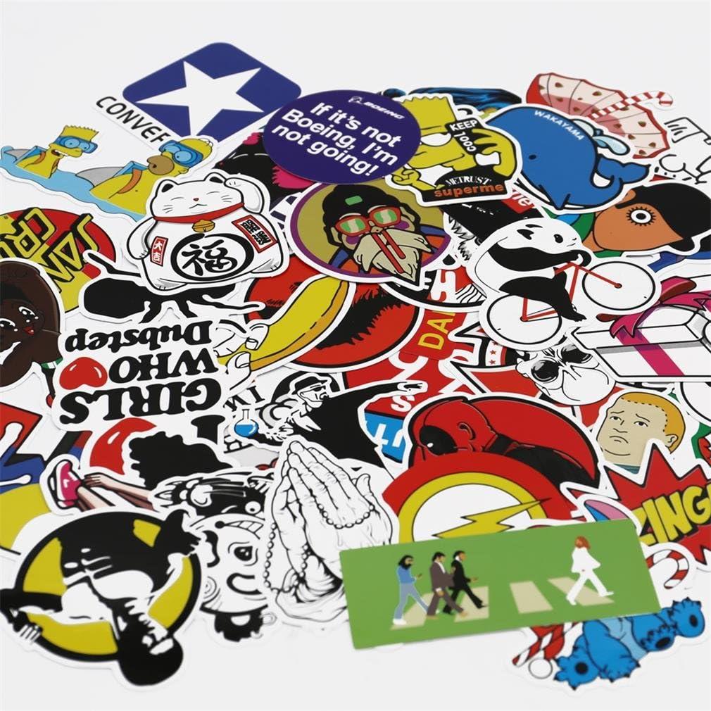 bagagli UTSAUTO Adesivi Graffiti confezione da 100 pezzi moto telefono adesivi per auto bici skateboard laptop adesivi e toppe paraurti impermeabili