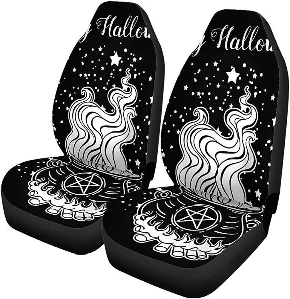 Fundas de asiento de coche Caldero de bruja mágica de líquido hirviendo Poción de caldera mágica Protector universal de asientos automáticos