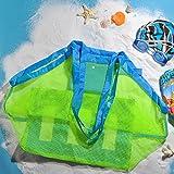 borsa da spiaggia TOPBEST La grande borsa da spiaggia in tessuto a rete con tote, zaino, asciuga la sabbia degli asciugamani, perfetta per contenere i giocattoli dei bambini