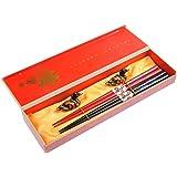 "Abacus Asiatica Basic: ""Red & Black Dragons"" Chopstick-set in plain decorative box, bamboo chopsticks (5 pairs of chopsticks), Mod. CBR-S2-R-GH01 (US)"