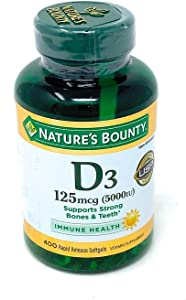 Nature's Bounty Expect More Vitamin D3 125 mcg, 400 Softgels