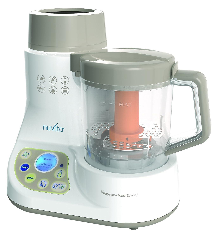 Nuvita nu-ppfp00081965Mini Food Processor Cuocipappa Steam and Bottle Warmer, Multi-Colour Anteprima Brands