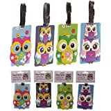 Cute Colourful Owl Pvc Luggage Tag Gifts, and, Cards Cards, idea Occasion, Gift, Idea by GiftRush
