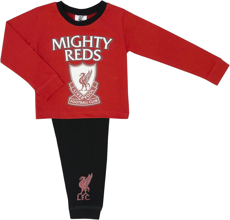 Bébé garçons pyjamas Liverpool Rouge et Noir Long