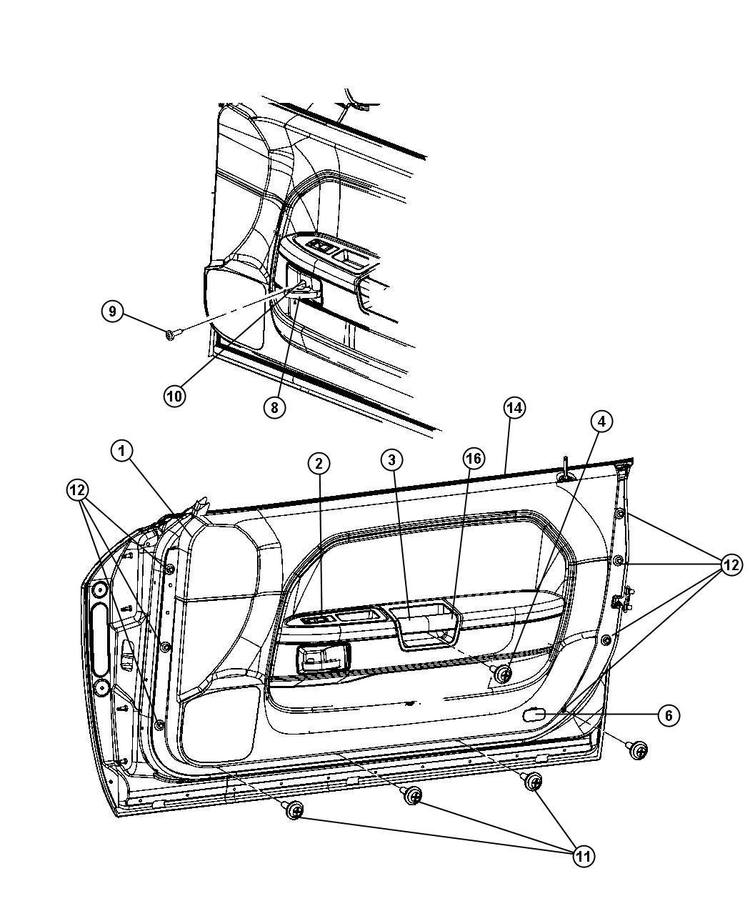 Mopar Performance 68071960aa Molding Automotive Avondale Caravan Wiring Diagram