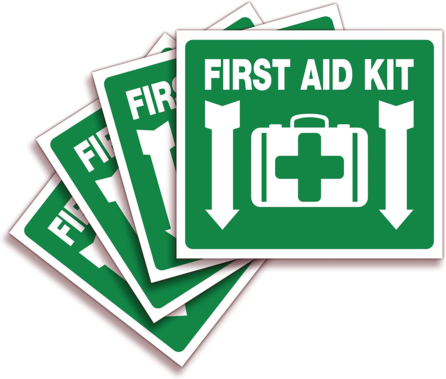 NO 2 First Aid Self Adhesive Vinyl Sticker All Sizes