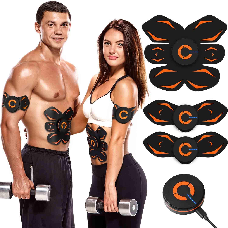 Nastbon EMS 腹筋ベルト 腕筋 背筋 筋トレマシン トレーニング ダイエット器具 USB充電式 10段階 6つモード 男女兼用 日本語説明書付属