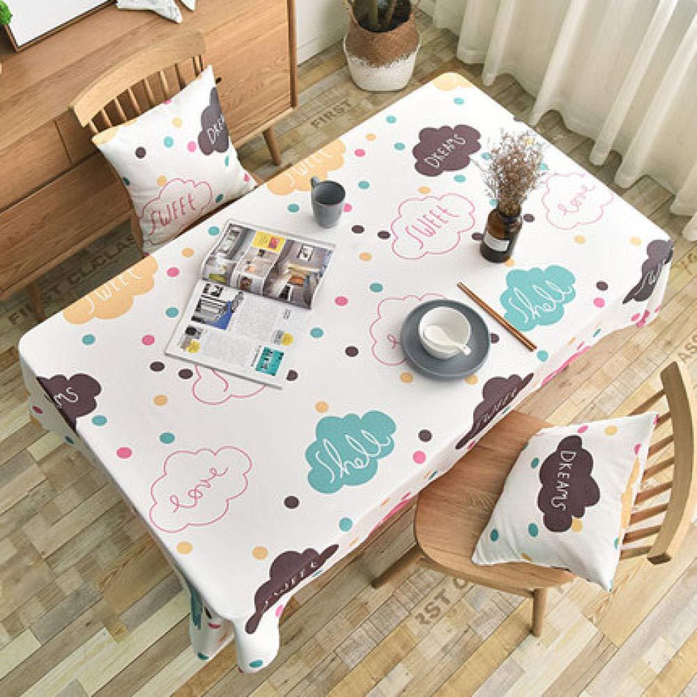 WJJYTX Plastiktischdecken abwischbar, quadratische abwischbare Tischdecke Rechteckiges wasserdichtes Vinyl für die Gartenküche Plaid braun-120 * 160_B für Außen- oder Innenbereiche