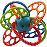 Baby Bucket Oball O Ball Flexi Loops Teething Toy (Multicolor-1)
