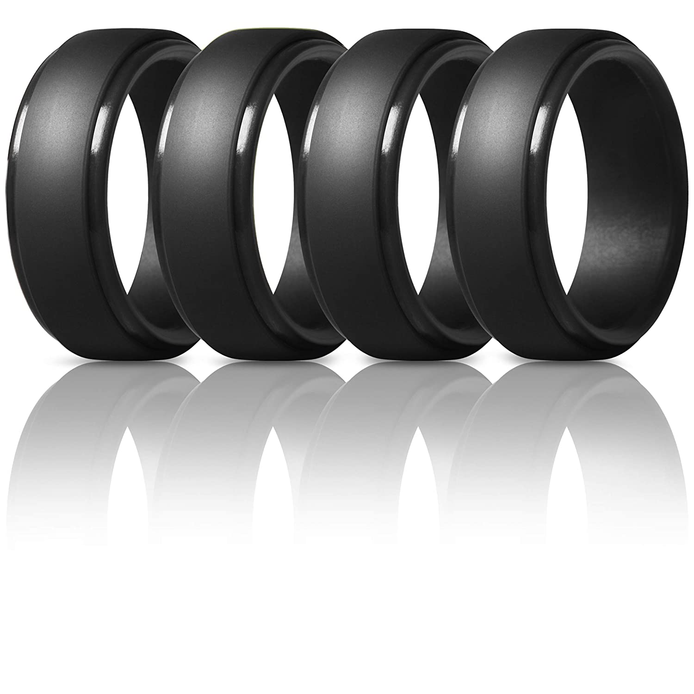 【SEAL限定商品】 thunderfitシリコンリングメンズの – 4 Pack &シングルパックゴムウェディングバンド 15 B07L5BX2F4 4 4 Black Rings (23.82mm) 4 14.5 - 15 (23.82mm) 14.5 - 15 (23.82mm) 4 Black Rings, CQB:3a510cfa --- beyonddefeat.com