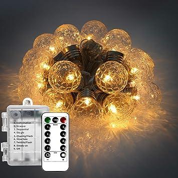 Cadena de Luces para Arbol de Navidad, Guirnalda Luces LED Pilas, Wafly 20 LEDs
