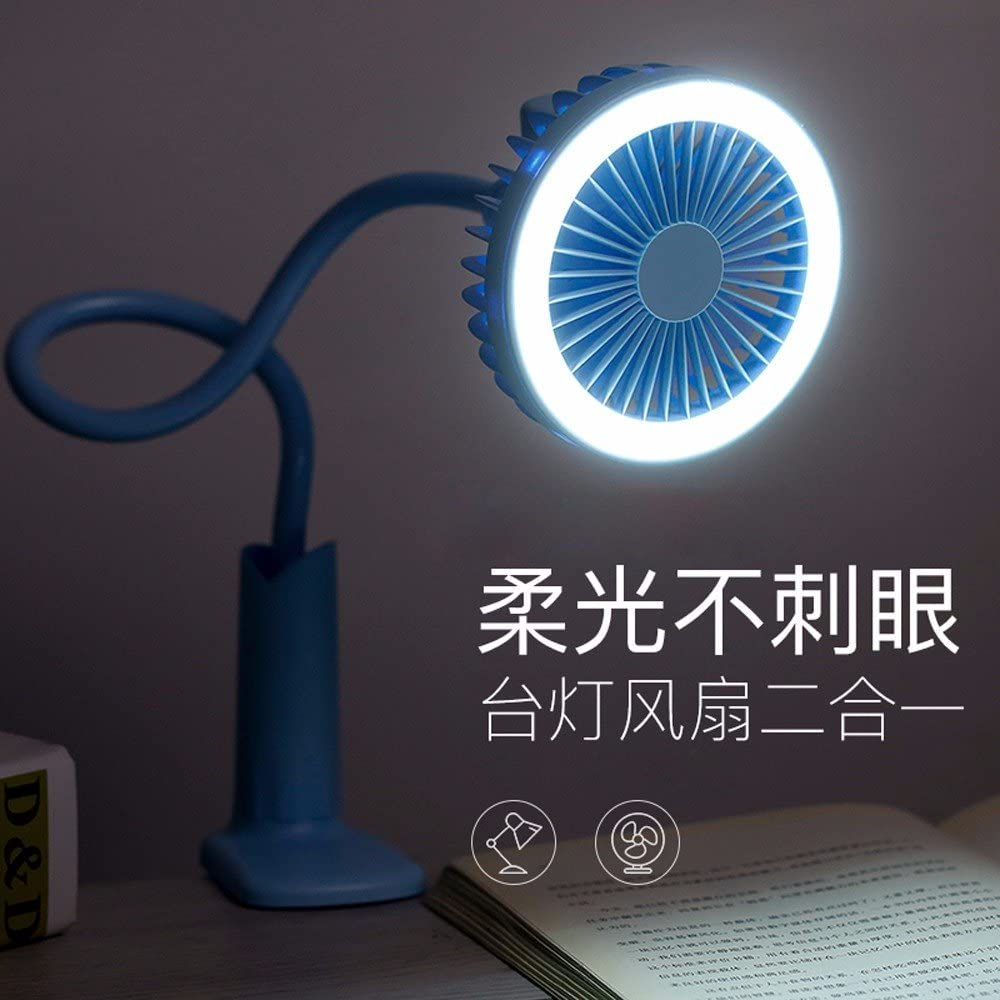 GTVERNH Usb Rechargeable Student Desk Lamp Dormitory Office Mute Portable Fan Mini Pink