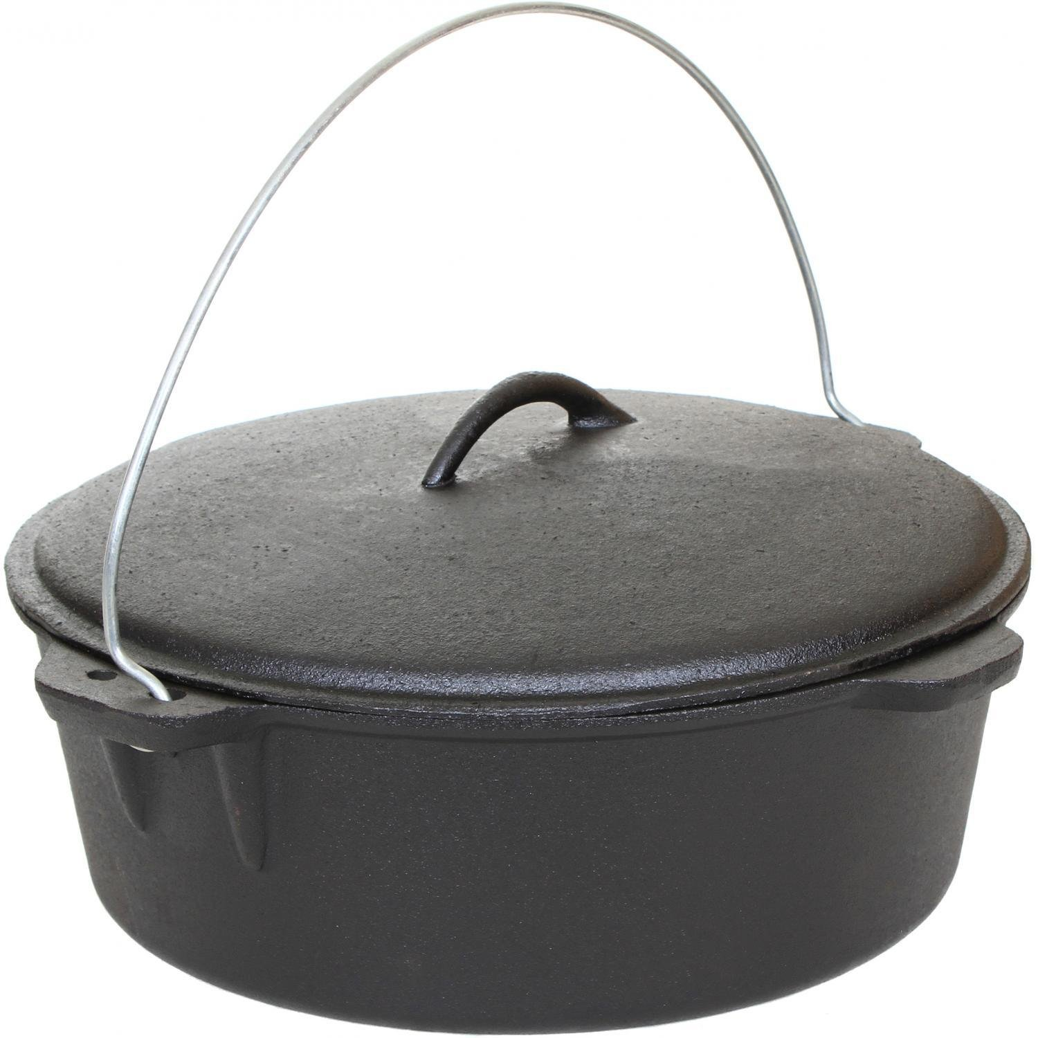 Cajun Cookware 12-quart Seasoned Cast Iron Dutch Oven - Gl10489s