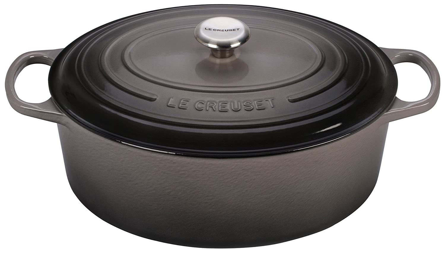Le Creuset Signature Enameled Cast-Iron 9.5 Quart Oval French (Dutch) Oven, Oyster