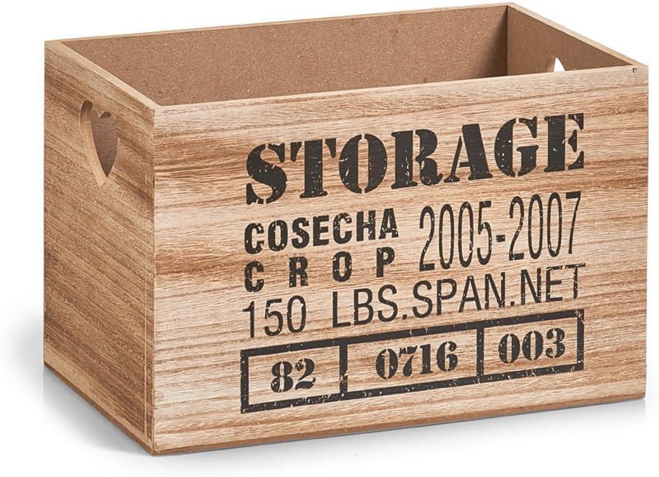 Zeller 15122 – Caja de almacenaje Storage, MDF/Madera, Natural, 28 x 18,7 x 17 cm: Amazon.es: Hogar