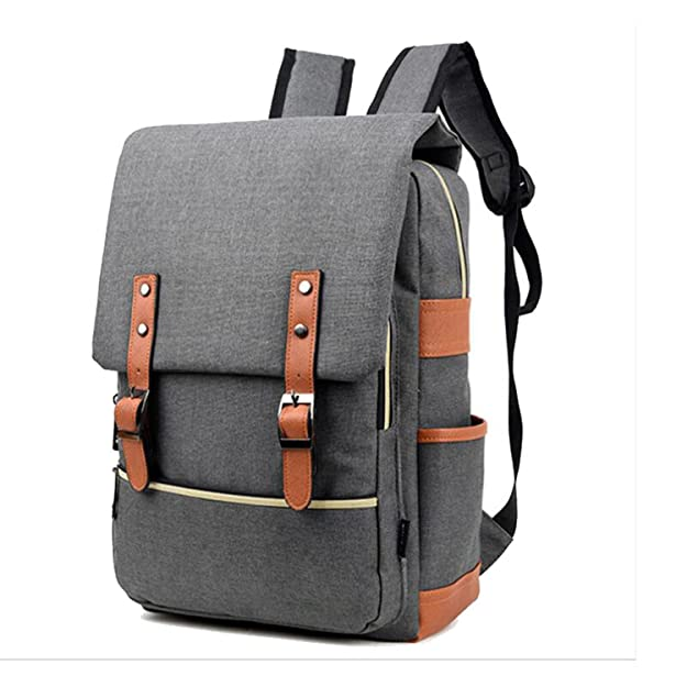 Amazon.com: Willie Marlow 2017 Vintage Women Canvas Backpacks For Teenage Girls School Bags Light Black 15 inch laptop bag: Shoes