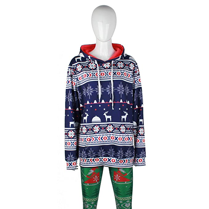 Amazon.com : JoJo Christmas Hoodie Sweater/Digital Snowflake Christmas Print/Sports Sweater Hoodie/Hoodie Sweatshirt/Couple/Party Gift : Sports & Outdoors