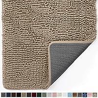 Gorilla Grip Original Indoor Durable Chenille Doormat, 24x17, Absorbent Machine Washable Inside Mats, Low-Profile Rug Doormats for Entry, Mud Room Mat, Back Door, High Traffic Areas, Beige