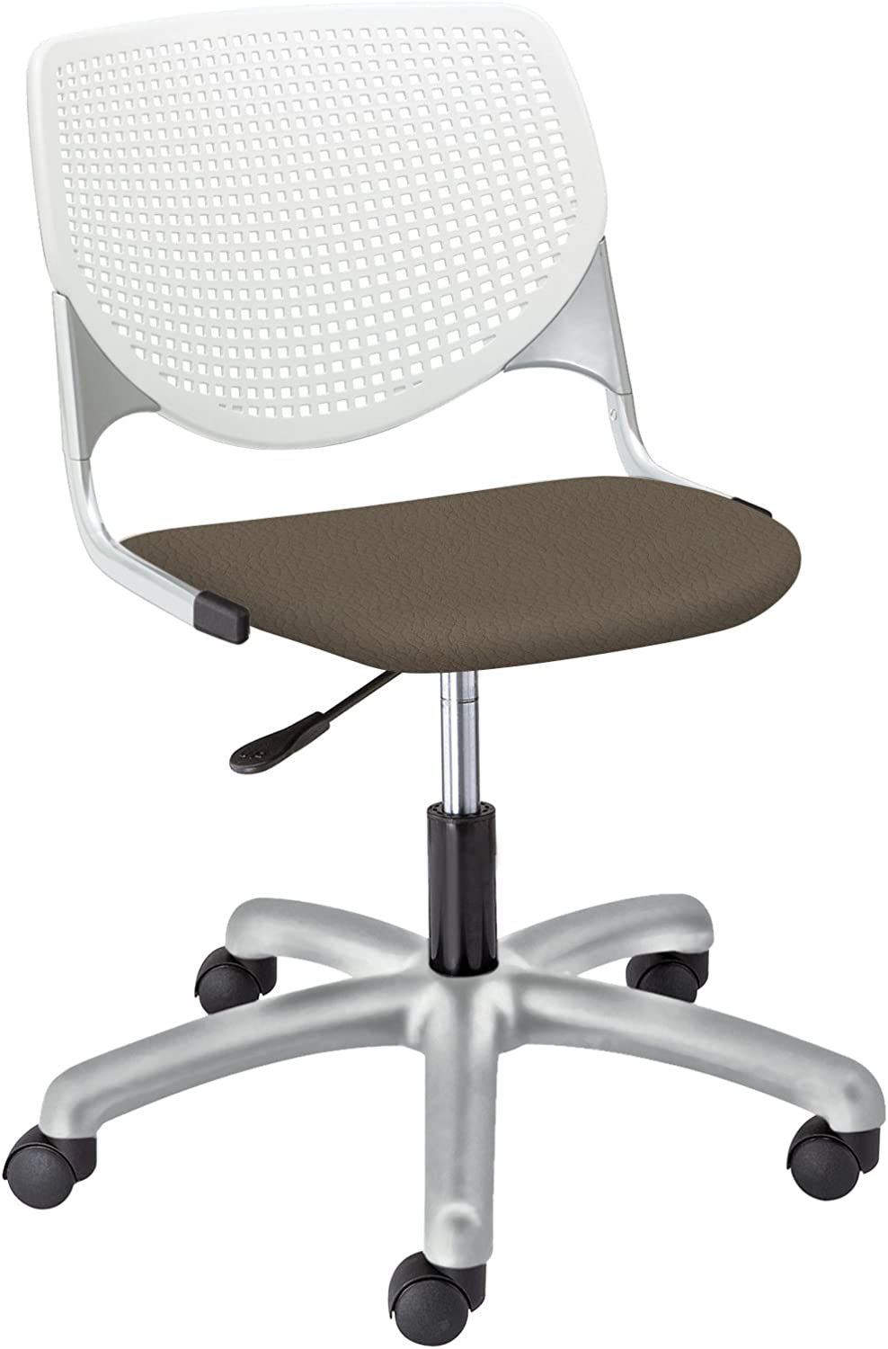 Amazon Com Kool Poly Task Chair With Perforated Back Java Furniture Decor