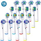 Replacement Toothbrush Heads for Oral B, iTrunk 16 Pack Electric Toothbrush Heads Compatible with Pro 3000 Pro 5000 Pro 7000, Includes 4 Precision Clean, 4 Floss Action, 4 Cross Action & 4 3D White