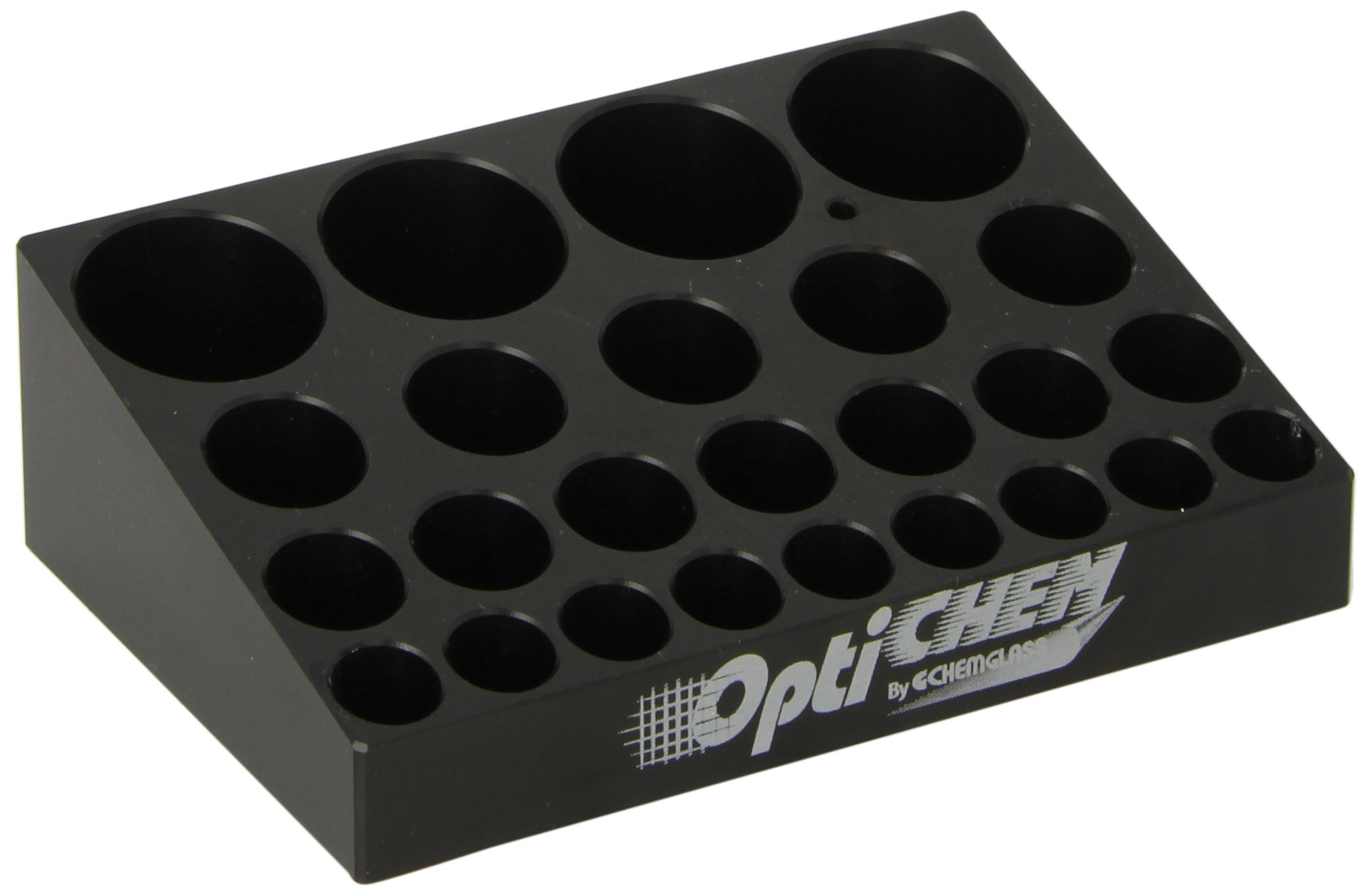 Chemglass Optichem OP-6600-90 Aluminum Multi-Vial Block for Centrifugal Vacuum Evaporators, 25 Position