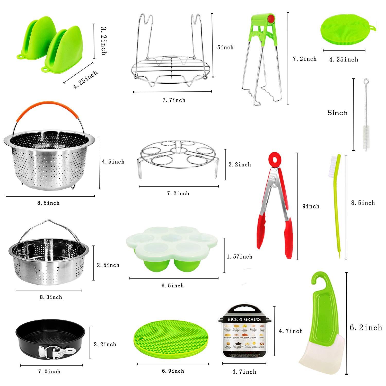 19Pcs Pot Accessories for Pressure Cooker fit 5,6,8Qt Pressure Cooker Pot Accessories Instant by DONEWISH (Image #3)