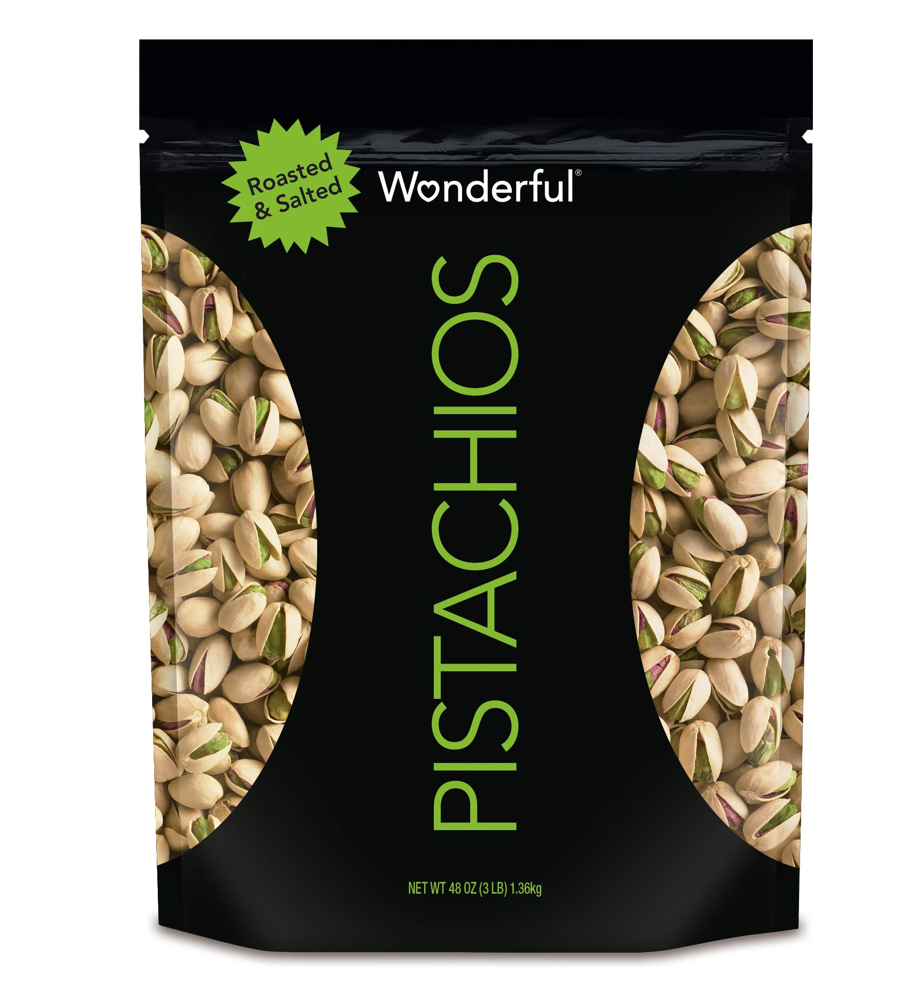 Wonderful Pistachios, Roasted & Salted, 48 oz Resealable Pouch by Wonderful Pistachios & Almonds