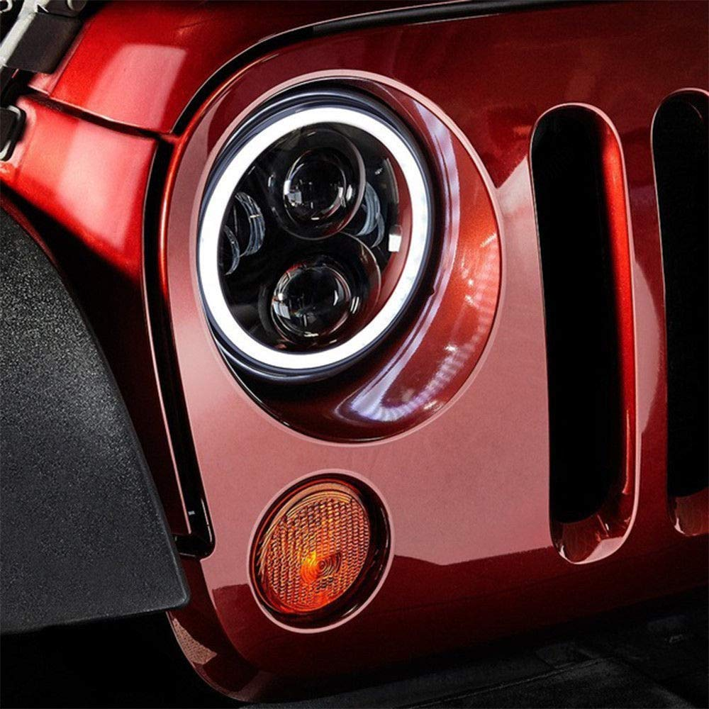 per abbaglianti//anabbaglianti 1950-1979 Fanale anteriore a LED Cree da 17,8 cm 60 W lenti nere classiche