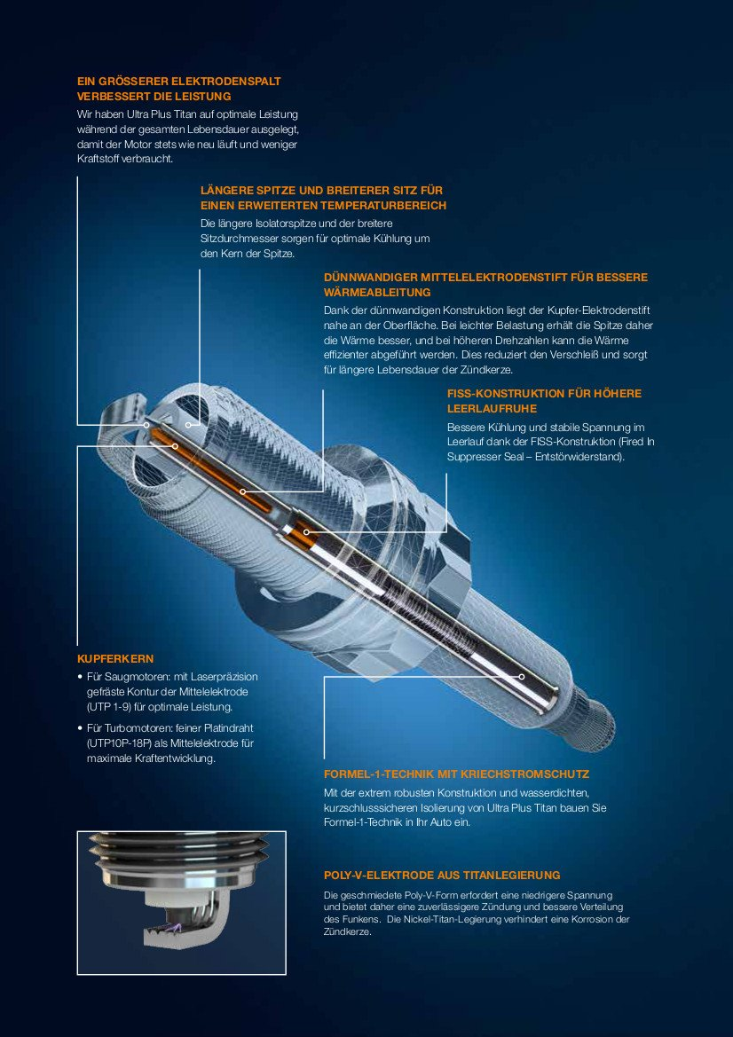 sostituisce UXT1 UXT3 UXT5 Candela di accensione 4 pezzi Ultra Plus UPT2 Beru AG in titanio