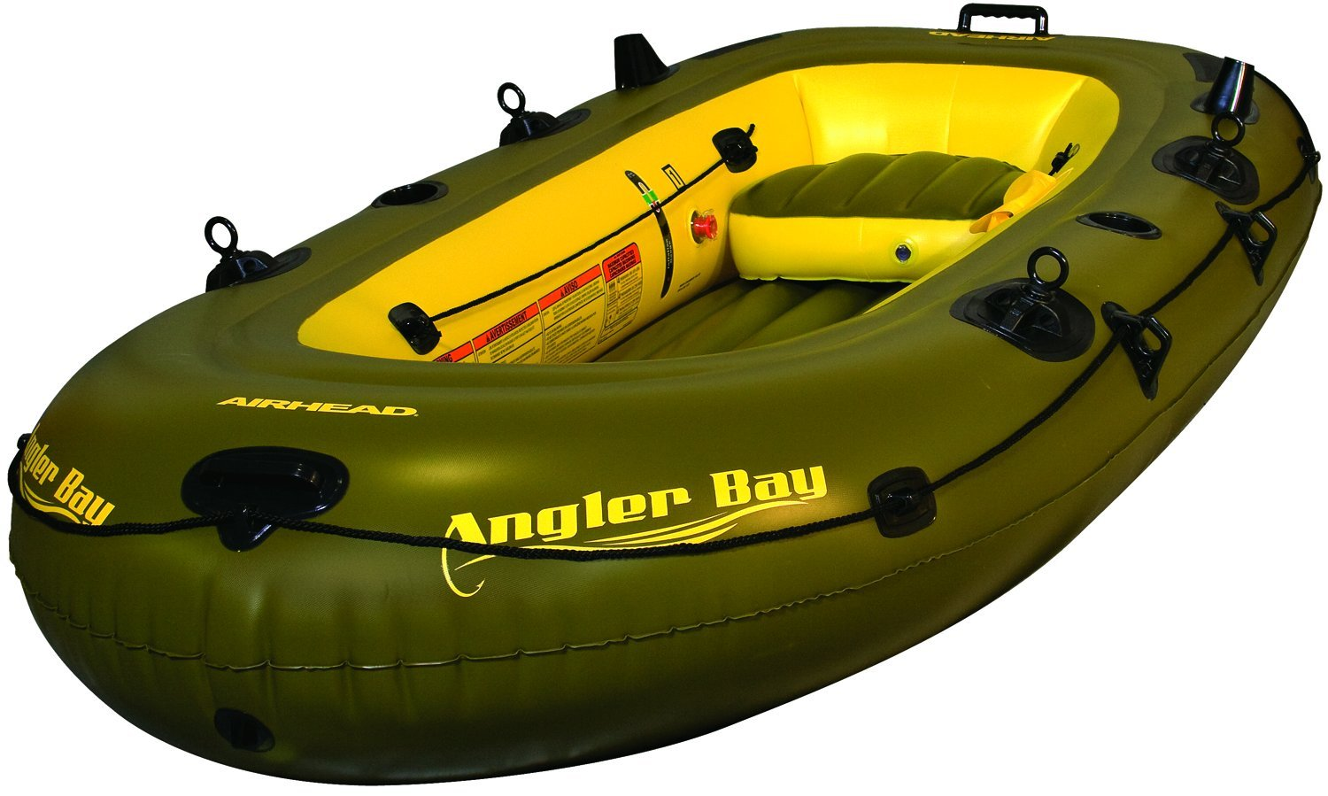 AIRHEAD AHIBF-04 Angler Bay 4 Person Inflatable Boat by Airhead