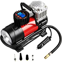 Tcisa Portable Air Compressor Pump 150 PSI Auto Digital Car Tire Inflator Gauge