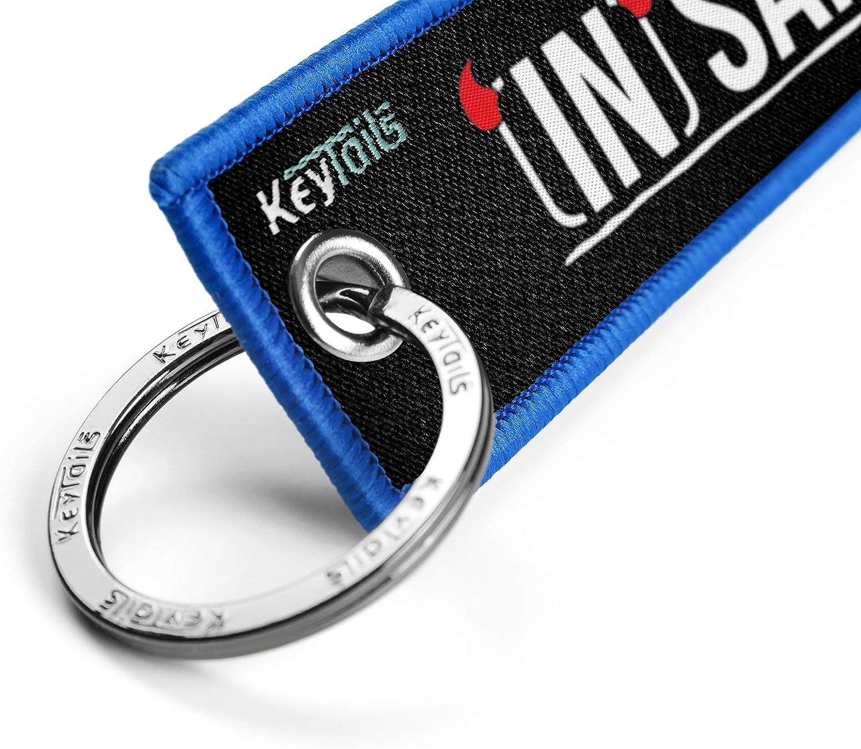 Insanity Key UTV KEYTAILS Keychains ATV Car Premium Quality Key Tag for Motorcycle Scooter