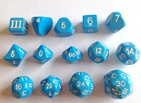 Blue - Approved for Use with Dungeon Crawl Classics 14 Unusual Dice Set