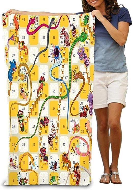 Florane Toalla de Playa, Toalla con Escalera de Serpiente Juego de Mesa Año Nuevo Chino Bueno: Amazon.es: Hogar