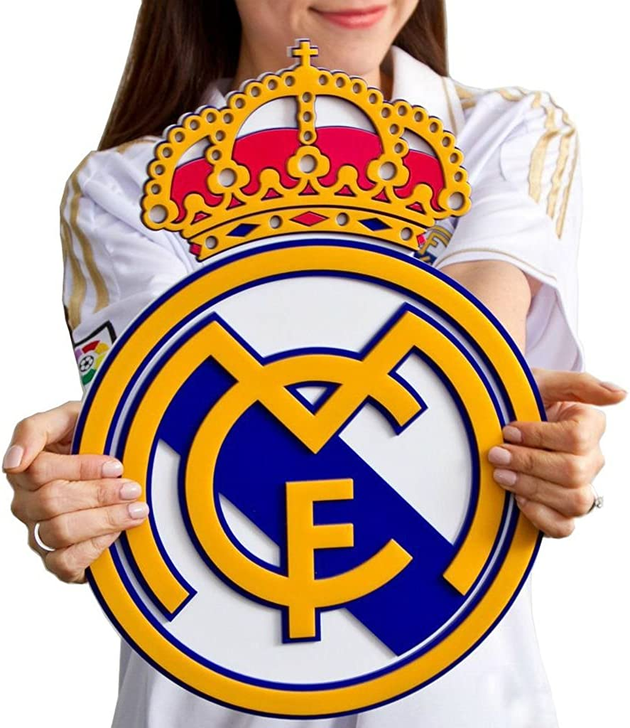 SG10802 Real Madrid CF Official Crest Design 4in Mini Soft Football