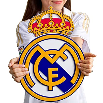 Real Madrid Cf Soccer Crest Shield Acrylic To Hang On Wall With Stand Same As On