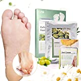 Foot Peel Mask - LuckyFine Olives Foot Peeling Mask,Exfoliating Calluses and Dead Skin Remover,Repair Rough Heels, Contains Chamomile Moisturizing Foot Cream, Get Soft Foot