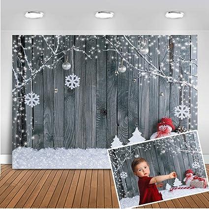 Mehofoto Weihnachten Hintergrund 7x5ft Holz Wand Kamera