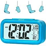 Zhpuat 11,7cm Smart controllabile luminosità retroilluminazione sveglia digitale per bambini blu