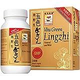 Vita Green Reishi Mushroom Lingzhi, 100% Natural Pure Antioxidant Fungus Extract for Energy Immune Support Wellness for Adult