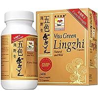 Vita Green Reishi Lingzhi Mushroom Herbal Capsules, 100% Nature Pure Vegan Fungus...