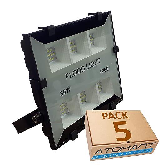 (LA) Proyector LED compacto 30w, blanco frio (6500K), IP66, 3300 Lumenes. (PACK 5X)